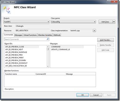 MFC Class Wizard