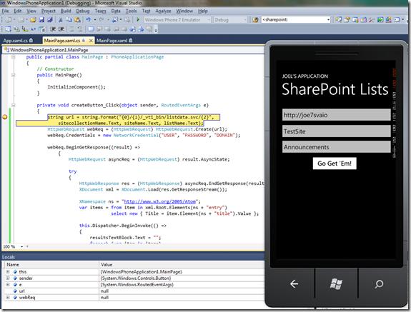 Windows Phone 7 and Visual Studio Debugger