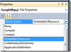 Selecting an Embedded Resource
