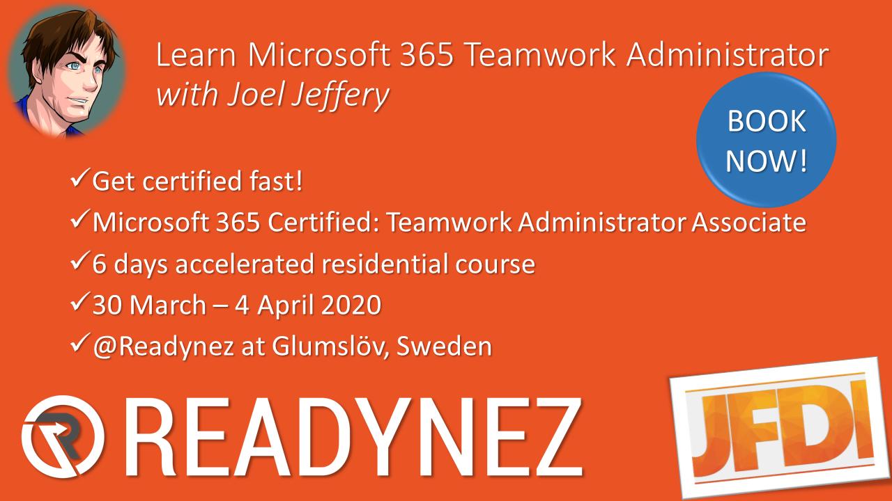 Course: Microsoft 365 Certified Teamwork Administrator