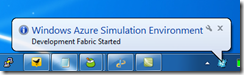 Windows Azure Simulation Environment System Tray Icon